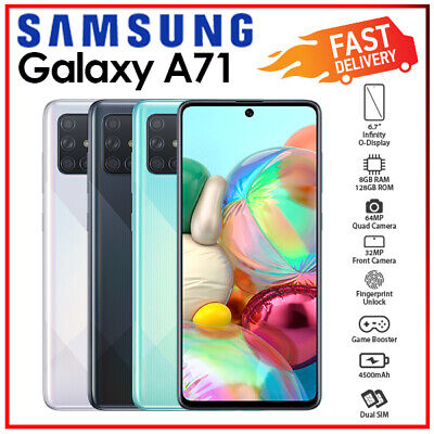 Samsung Galaxy A71 Silver Black Blue Android 8GB+128GB Mobile Phone (Unlocked)