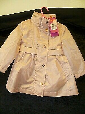 BAKER BY TED BAKER Size 12-18 Months Pink Baby Girl's Mac / Shower Coat
