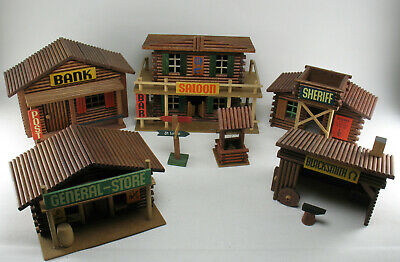 OEHME & SÖHNE - Western City, SALOON, STORE, Sheriff, Blacksmith - DDR Holz Haus