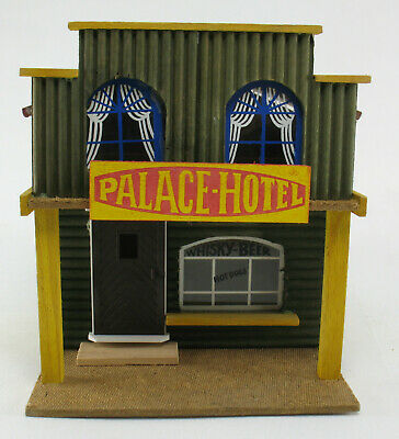 Elastolin - PALACE-HOTEL - WHISKY BEER Bar - Holz Cowboy Western Haus Fort