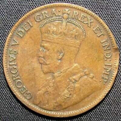 1919 Canada 1 Cent Coin