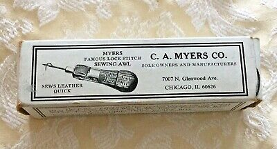 C.A. MYERS COMBINATION SEWING AWL in ORIGINAL BOX