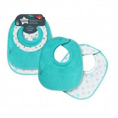 Tommee Tippee 2 Dribble Catching Bibs 4m+ Turquoise