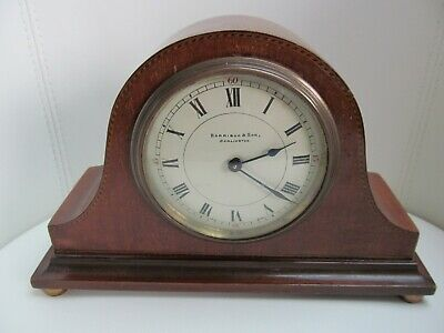 Antique Harrison & Son Darlington - Wooden Cased Mantle Clock - Marquetry Inlay