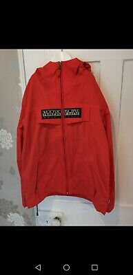 Napapijri Napa Red Summer One Shell Jacket Excellent Condition