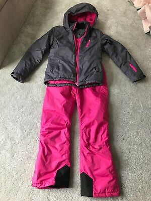 Girls Ski Jacket And Trousers Age 13-14 Years