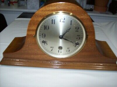 Vintage Westminster Chime 3 Hole Napoleon Hat Style Clock - Working