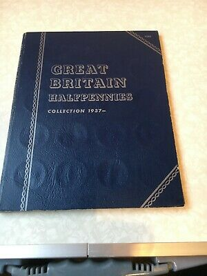 Whitman Folder Halfpennies Collection 1937 With All The Coins And Some Extras
