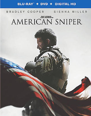 American Sniper (Blu-ray/DVD, 2015, 2-Disc Set)