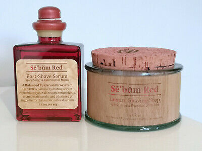 Sē'bŭm Red Luxury Shaving Soap and Post-Shave Serum