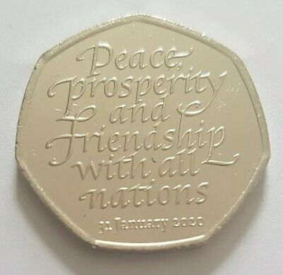 2020 The Royal Mint Brexit Fifty Pence 50p Coin UK