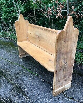 Beautiful Antique Wooden Church Pew