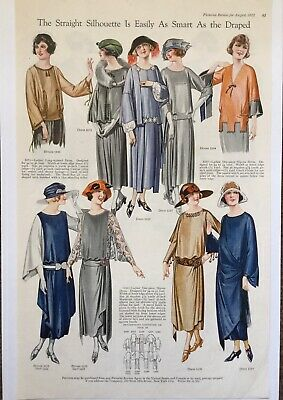 1922 Pictorial Review Print Ad Straight Silhouette Womens Fashion