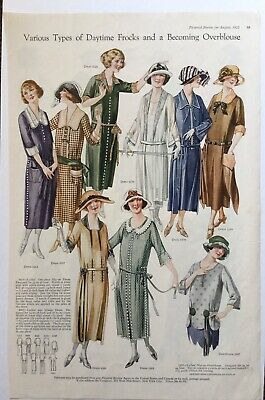 1922 Pictorial Review Print Ad Womens Fashion Daytime Frock