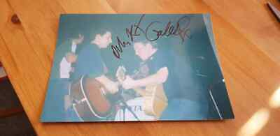 Signed Turin Brakes On Stage Unique Photo Gale Olly Optimist Underdog Glasgow
