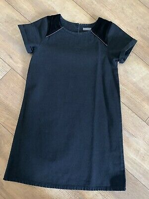 Girls Black Denim Next Dress Aged 8 Years