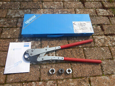 Uponor Manual Pressing Tool 14-20 With Case + Inserts..pipes,Plumbing,Pneumatic