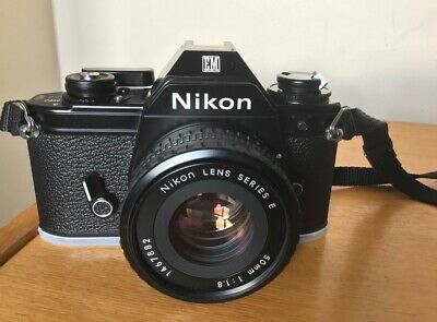 ***Nikon EM 35mm SLR Film Camera with Nikon 50mm E Series Lens***