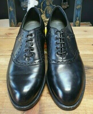 FootJoy Spikeless Leather Black with Shoe Covers - 10.5US