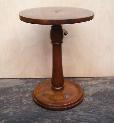 Antique Victorian extendable wooden candle stand