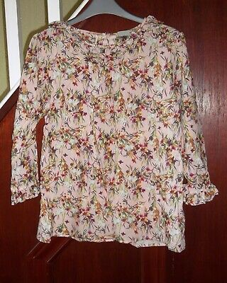 Next older girls pink floral blouse age 16 BNWT RRP £19.00
