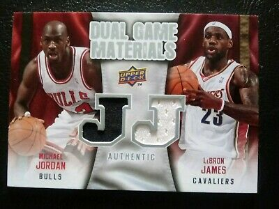 2009/10 UD Micheal Jordan Lebron James Dual Game Used Jersey/Patch