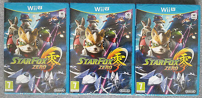 3x Star Fox Zero New & Sealed - Wii U Job Lot