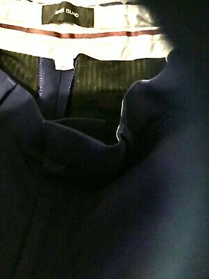 Boys river island navy slim fit trousers age 11