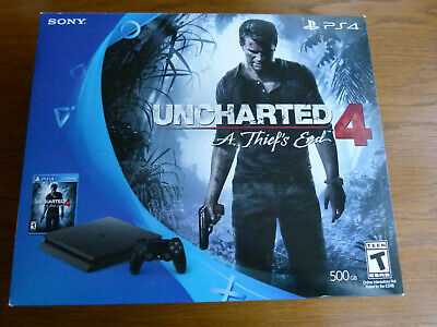 Sony PlayStation 4 Console *Uncharted 4 A Thief's End, PS4 Game Bundle Jet Black