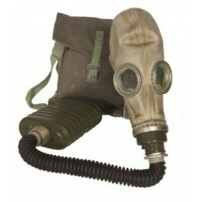 Military Surplus Polish MP-3 Gas Mask w/ Hose, Filter & Bag