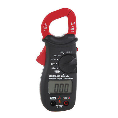 Hyper Tough DIGITAL CLAMP METER AC DC 300V LCD Display Diode & Continuity Check