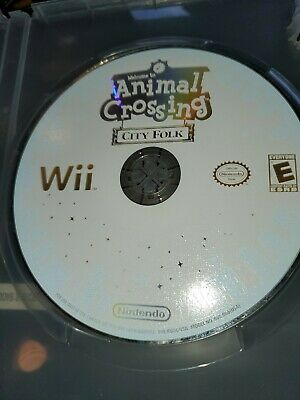 Animal Crossing: City Folk (Nintendo Wii, 2008) Disc Only Tested & Working!
