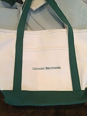 NEW LEHMAN BROS Canvas Tote
