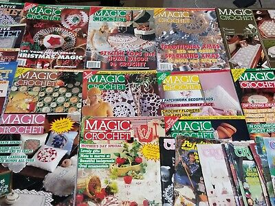 Lot of 33 MAGIC CROCHET Magazines Decorative ANNIE'S PATTERN Digest