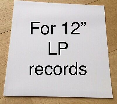 """5 x LP RECORD SLEEVES NO HOLE White Outer Card Album 12"""" Cover Test Press Vinyl"""