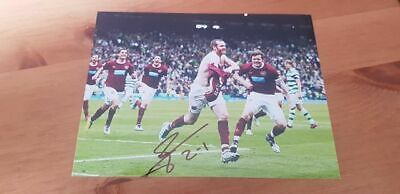 Signed Craig Beattie Photo Charity Auction Hearts Winner V Celtic Scottish Cup