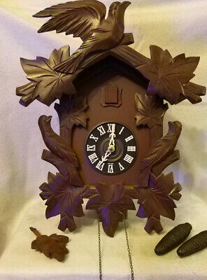 Large Vintage Cuckoo Clock In Working Order!