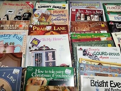 HUGE Lot of 66 Decorative Tole Painting Pattern Books Holidays Seasons Country