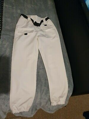 I Saw It First White trousers Cuffed Combat With Belt Size Medium 8