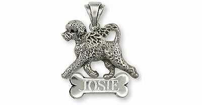 Portuguese Water Dog Angel Jewelry Sterling Silver Handmade Portuguese Water Dog