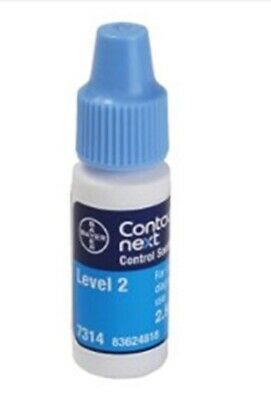 Contour Next Control Solution Level 2 Bayer 2.5mL bottles EXP May 2020 Lot of 12