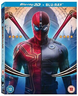 MARVEL SPIDER-MAN FAR FROM HOME 3D / 2D Blu-ray WITH SLIPCOVER