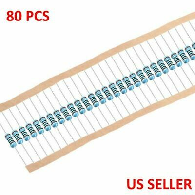 1/4W .25 Watt 1% Tolerance Metal Film Resistor 80 Pieces USA TOP SELLER