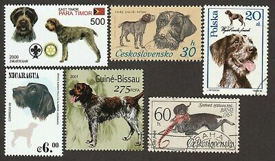 GERMAN WIREHAIRED POINTER ** Int'l Dog Stamp Art Collection *Great Gift Idea*