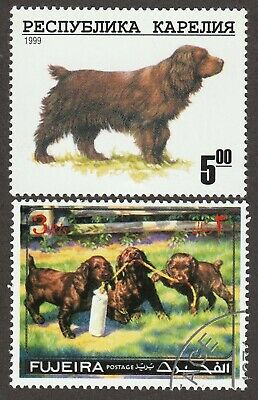 SUSSEX SPANIEL ** Int'l Dog Postage Stamp ** Great Gift Idea **