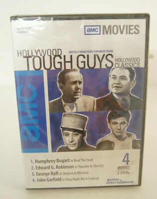 Hollywood Tough Guys AMC Movies Classics DVD 4 Movies 2 DVDs - Sealed New 2004