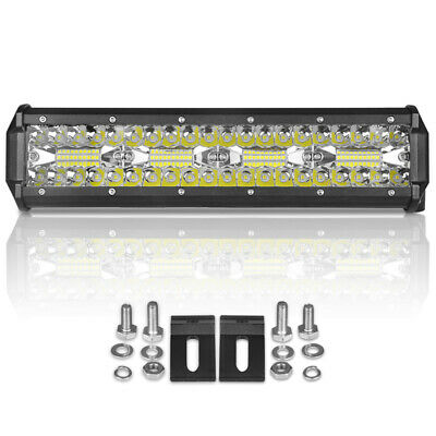 12inch CREE LED Light Bar 240W Driving Work Spot Flood Combo Offroad 4WD SUV ATV
