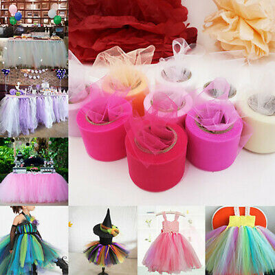 FT- 5cm 22m Shiny Sheer Gauze Tulle Roll Spool Wedding Club Decor DIY Craft Supp