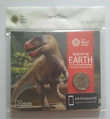 2020 Royal Mint Megalosaurus Colour Fifty Pence 50p Coin Brilliant Uncirculated