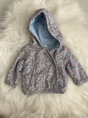 Next Coat Jacket Girls Baby 0-3 Months Blue Pink Red White Flowers
